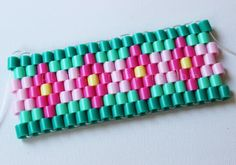 DIY Hama beads bracelet - #art, #diy, craft
