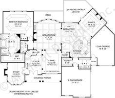 Drewnoport House Plan First Floor Plan 4,222 sq. ft. Plan Link: http://www.archivaldesigns.com/home-plans/drewnoport