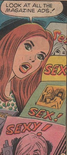 "Comic Girls Say.. ""Look at all the magazines ads ! "" #comic #vintage #popart"