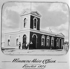 The first Shire of Wimmera offices, erected in Horsham, Victoria, 1885 - Museum Victoria Victoria Australia, Borderlands, San Francisco Ferry, Geography, Offices, Museum, City, Building