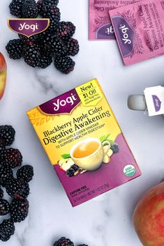 Apple Cider Vinegar meets bright, fruity Blackberry and warming Ginger in our newest Digestion blend! 🍎🍵 Find NEW Yogi Blackberry Apple Cider Digestive Awakening online and in stores near you. Healthy Drinks, Healthy Snacks, Healthy Eating, Detox Drinks, Healthy Fruits, Clean Eating, Health Diet, Health And Wellness, Bone Health