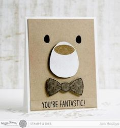 I& been looking for simple kids cards and I like this. Papell with Love: Card for Kids Boy Cards, Kids Cards, Cute Cards, Cards Diy, Arte Punch, Punch Art, Bear Card, Karten Diy, Kids Birthday Cards