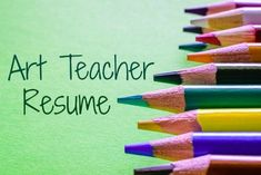 Sample art teacher resume that clearly highlights your suitability for the job. Excellent resources to help you get the art teacher job you want. Teaching Resume Examples, Resume Template Examples, Teacher Resume Template, Good Resume Examples, Teaching Jobs, Resume Template Free, Teaching Ideas, Art Teacher Jobs, Teacher Interviews