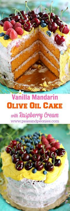 Mandarin Olive Oil Cake - Peas and Peonies