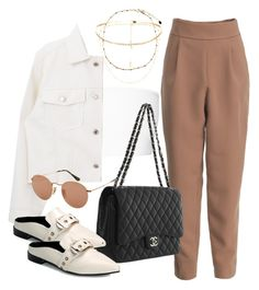 Untitled #3055 by camilae97 on Polyvore featuring moda, Balmain, Chanel and Ray-Ban