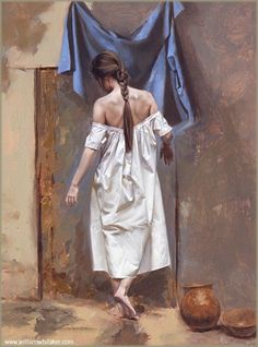 William Whitaker 1943   American Figurative painter   Painting