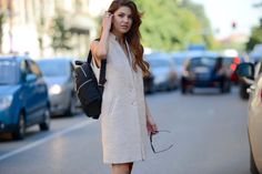 Too cool for school! Negin Mirsalehi in Liu Jo total look, more on www.thestreetmuse.it