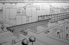Projeto Metrô em 1926.