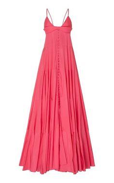 La Robe Manosque Tiered Chiffon Maxi Dress by Jacquemus Silk Mini Dress, Chiffon Maxi Dress, Silk Chiffon, Caftan Dress, Maxi Skirts, Jacquemus, Pink Maxi, Alter, Summer Dresses