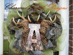 Mossy Oak Hunter Deco Mesh Wreath. $79.00, via Etsy.