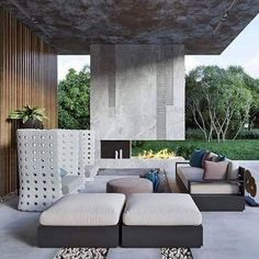 Unconventional terrace with Canasta by Patricia Urquiola. Thank you @mops.studio #canasta #outdoorsofa #lounge #architecture #design #outdoor #garden #terrace #concrete #contemporary #style #lifestyle #instadesign #furnituredesign #furniture #interiordesign #modern #patio #outdoorsofa