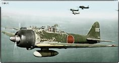 Mitsubishi A6M-3 Type 22 Zero, JNAF 251 Kōkūtai (Tail code UI105) flown by Japanese ace Hiroyoshi Nishizawa known as the 'Red Devil of Rabaul' by the allied pilots and became Japans leading Ace of WWII.
