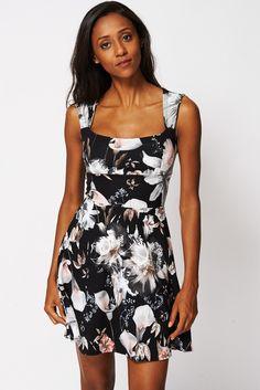 Skater Dress with Floral Detail - Ex-Branded £14.99