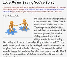adult adhd relationships and love