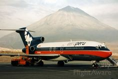 Boeing 727-22 (cn 19150) AeroPeru - Photo actually made by my wife at Arequipa c1995