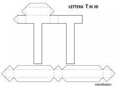 3d Alphabet, Alphabet Templates, Hand Lettering Alphabet, 3d Letters, Floral Letters, Letters And Numbers, Diy Gift Box, Easy Diy Gifts, Diy Wall Decor For Bedroom