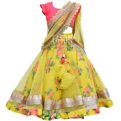 kids lehenga blouse new - Saferbrowser Yahoo Image Search Results Baby Girl Dress Patterns, Baby Dress Design, Frock Design, Frocks For Girls, Dresses Kids Girl, Kids Outfits, Kids Dress Wear, Kids Gown, Kids Wear