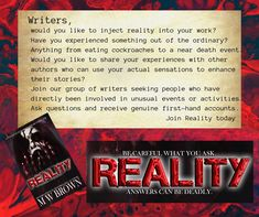 Reality – M W Brown Psychological Horror, You Working, Psychology, Writer, Death, Author, Brown, Psicologia, Sign Writer
