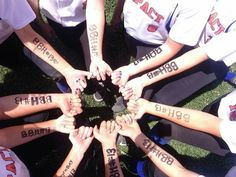 Baylee's softball team giving her support.