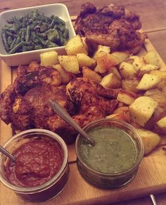 Spicy Peruvian Poussin with Chimichurri Vegetables