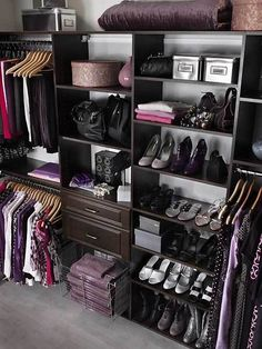 Create an organization display piece to showcase your shoes, jewelry, hat boxes, towels, and accessories.