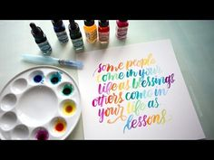 Watercolor Lettering with Dr. Martin's Radiant Concentrated Water Color - Karten - Watercolor Lettering, Brush Lettering, Hand Lettering, Watercolor Art, Creative Lettering, Diy Outdoor Weddings, Diy Wedding On A Budget, Christmas Paper Crafts, Paper Crafts For Kids