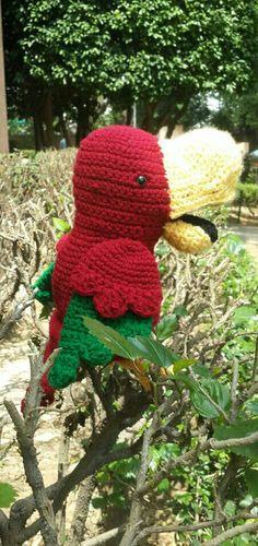 Crochet hand puppet