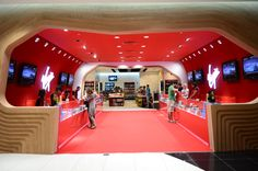 Virgin Megastore unveils redesigned Cashier with tree-like counters at Mall of the Emirates Dubai