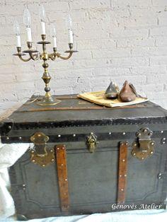 Antiguo baúl transoceanico - Genovès Atelier