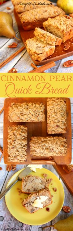 With soft pears, crunchy pecans and a delicious cinnamon flavor, this Cinnamon Pear Quick Bread makes for a delightfully delicious snack!