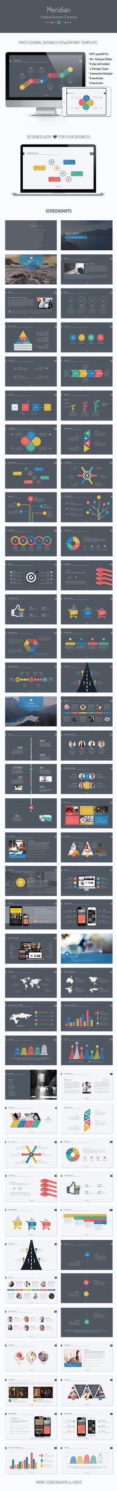 Meridian | Business Powerpoint Template #powerpoint #powerpointtemplate #presentation Download: http://graphicriver.net/item/meridian-business-powerpoint-template/10266593?ref=ksioks