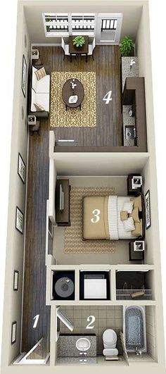 55 Trendy Ideas For House Design Ideas Floor Plans Studio Apartments Studio Apartment Design, Studio Apartments, Apartment Layout, Small Apartments, Apartment Entrance, Apartment Living, Apartment Interior, Apartment Plans, Living Rooms