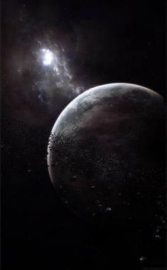 Beautiful Moon Space Stars picture and wallpaper