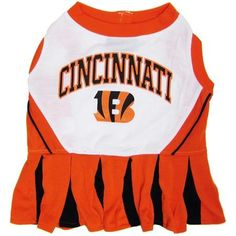 Cincinnati Bengals NFL Dog Cheerleader Outfit - Medium