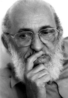 """"""" October 1921 Paulo Freire """"Attempting to liberate the oppressed without their refl… Radio Rebelde, Intellectual Games, Carl Sagan, George Orwell, Kids Education, Role Models, Portrait Photography, Literature, Learning"""