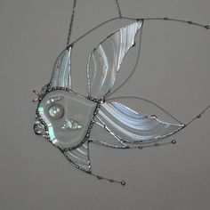 Items similar to Fish - Clear Glass - Beleved - Custom - Sun Catcher - Fish Decoration - Made To Order - Glass Fish - Lake - Beach - River - Decor - Glass on Etsy Stained Glass Angel, Stained Glass Ornaments, Stained Glass Suncatchers, Stained Glass Patterns, Tiffany, Glass Jewelry, Unique Jewelry, Rustic Crafts, Beaded Animals