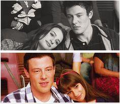 3 years later...1x22 vs 3x22 Finn and Rachel...perfection #glee #finchel