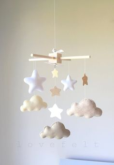 Baby Crib Mobile Baby mobile Neutral mobile by lovefeltmobiles