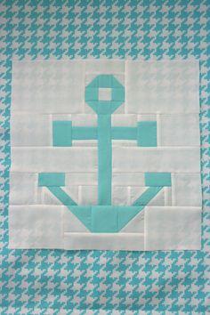Nautical Anchor Quilt Blocks - Free Quilting Tutorial