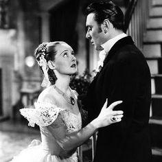 Bette Davis and George Brent in Jezebel
