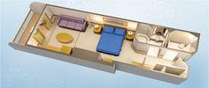Deluxe Oceanview Stateroom with Verandah