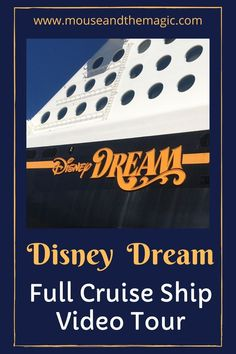 Disney Dream - Full Cruise Ship video Tour If you are cruising on the Disney Dream with Disney Cruise Line and want a COMPLETE tour of the ship, this is the post for you. Maybe you will be cruising on the Dream for the first time or maybe you love cruising on the Dream and want to feel like you are onboard again. #DisneyDream #DisneyCruise #DisneyDreamTour Disney Dream Cruise, Disney Cruise Tips, Disneyland Tips, Disney Travel, Disney On A Budget, Disney World Planning, Planning Board, Trip Planning, Adventures By Disney