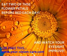 Eye Vitamins, Vitamins And Minerals, How To Introduce Yourself, Improve Yourself, Swallow, Marigold, Flower Petals, Eyes, Health