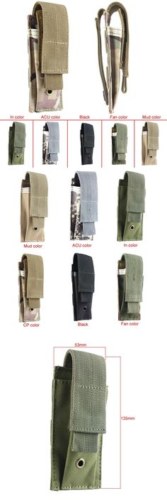 Small Tactical Military Molle Single Cartridge Clip Holster Belt Holder Bag Pistol Magazine Pouch Waterproof Oxford