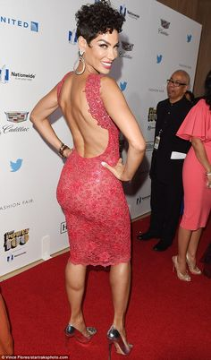 Rearly impressive: Nicole Murphy showcased her fantastic fundament at the Ebony Power 100 Gala in Beverly Hills on Thursday.