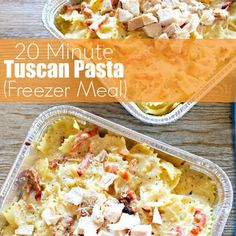 20 Minute Tuscan Pasta (Freezer Meal) Recipe Main Dishes with butter, garlic, dried basil, cream cheese, sun-dried tomatoes, milk, parmesan cheese, ground black pepper, salt, chicken