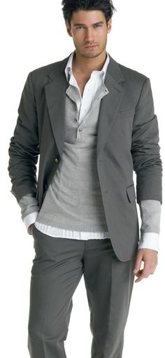 ♂ man in grey man's fashion apparel Francis Cadieux
