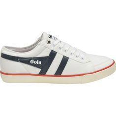 Gola Men's Comet Plimsoll Sneakers | White/Navy/Red