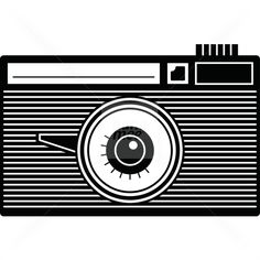 Black & White graphic Camera on Nanamee Stock Art, Cd Cover, Bmw Logo, Business Cards, Cameras, Illustration Art, Mood, Graphic Design, Black And White