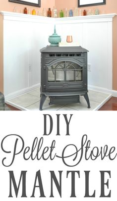 Hottest Pictures Pellet Stove diy Popular Pellet stoves are the way to economise whilst heated through those people very lazy cold months from home. Wood Burning Stove Corner, Corner Stove, Best Pellet Stove, Wood Pellet Stoves, Dining Room Walls, Living Room Decor, Corner Mantle, Wood Stove Hearth, Vintage Stoves